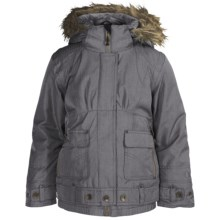Obermeyer Bombdiggity Jacket - Insulated (For Girls) in 02 Basalt Denim - Closeouts