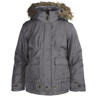 Obermeyer Bombdiggity Jacket - Insulated (For Girls) in 02 Basalt Denim