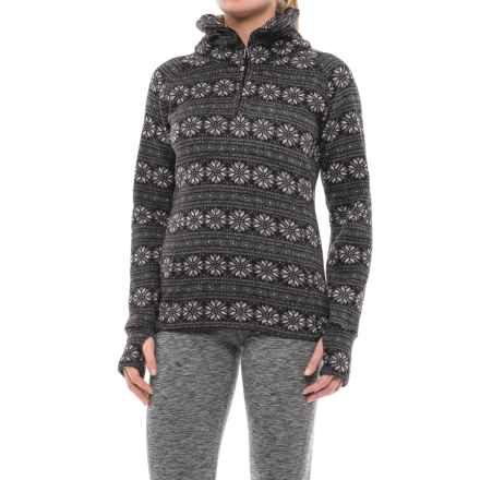 Obermeyer Brandi Fleece Shirt - Zip Neck (For Women) in Black Snowflake - Closeouts