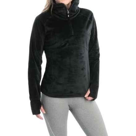 Obermeyer Brandi Fleece Shirt - Zip Neck (For Women) in Black - Closeouts