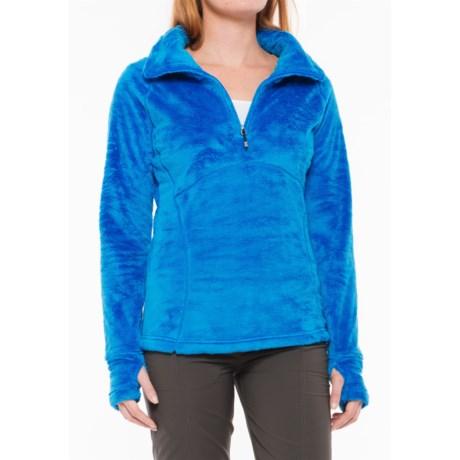 Obermeyer Brandi Fleece Shirt - Zip Neck (For Women) in Stellar Blue