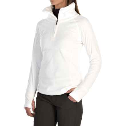 Obermeyer Brandi Fleece Shirt - Zip Neck (For Women) in White - Closeouts