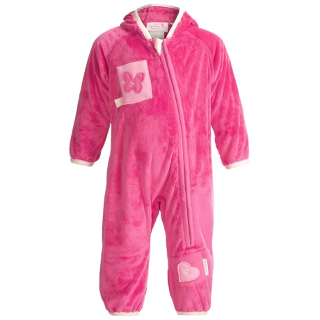 Obermeyer Bug in a Rug Fleece Bunting Suit (For Infants) in China Pink