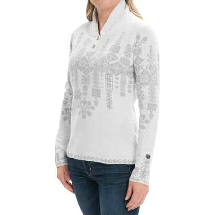 Obermeyer Cabin Pullover Sweater (For Women) in White/Grey - Closeouts