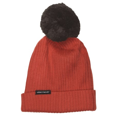 Obermeyer Caden Knit Beanie Hat (For Girls) in Poppy