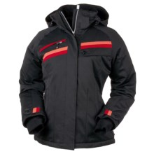 Obermeyer Capri Ski Jacket - Waterproof Insulated (For Women) in Black W/Red/Orange - Closeouts