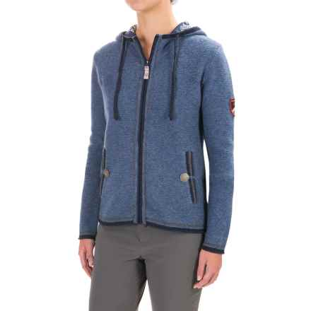 Obermeyer Charlie Knit Full-Zip Hoodie - Wool, Fully Lined (For Women) in Storm Cloud - Closeouts