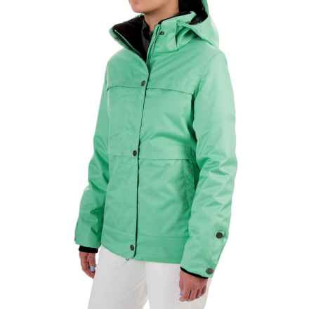 Obermeyer Cloudburst Ski Jacket - Waterproof, Insulated (For Women) in Bender Green - Closeouts