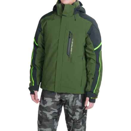 Obermeyer Cronus Ski Jacket - Waterproof, Insulated (For Men) in Dark Green/White/Black - Closeouts