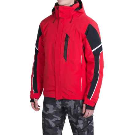 Obermeyer Cronus Ski Jacket - Waterproof, Insulated (For Men) in True Red - Closeouts