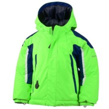 Obermeyer Cruise Snow Jacket - Waterproof, Insulated (For Toddlers and Little Boys) in Glowstick/Navy - Closeouts