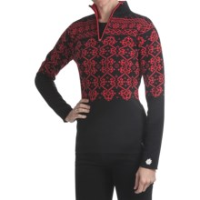 Obermeyer Dakota Sweater - Zip Neck (For Women) in Black - Closeouts