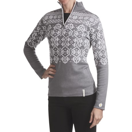 Obermeyer Dakota Sweater - Zip Neck (For Women) in Quarry