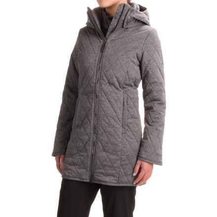 Obermeyer Desi Long Insulator Coat - Insulated (For Women) in Dark Heather Grey - Closeouts