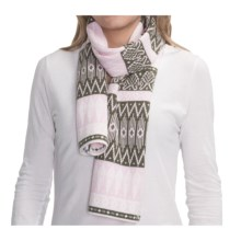 Obermeyer Ella Knit Scarf - Merino Wool (For Women) in Stone Green - Closeouts
