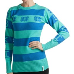 Obermeyer Eskimo Kisses Sweater - Jacquard Knit (For Women) in Lime Punch