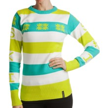 Obermeyer Eskimo Kisses Sweater - Jacquard Knit (For Women) in Lime Punch - Closeouts