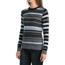 Obermeyer Fiona Stripe Sweater - Merino Wool Blend (For Women) in Black - Closeouts