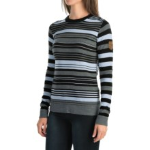 Obermeyer Fiona Stripe Sweater - Merino Wool Blend (For Women) in Black - Closeouts