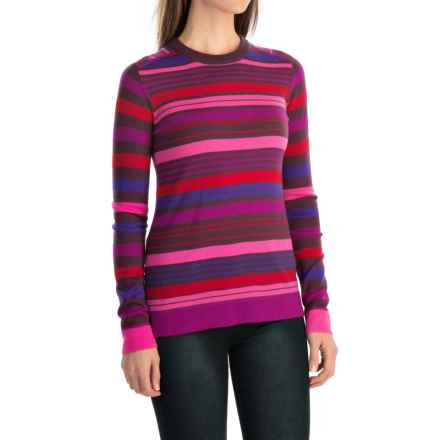 Obermeyer Fiona Stripe Sweater - Merino Wool Blend (For Women) in Vivacious Pink - Closeouts