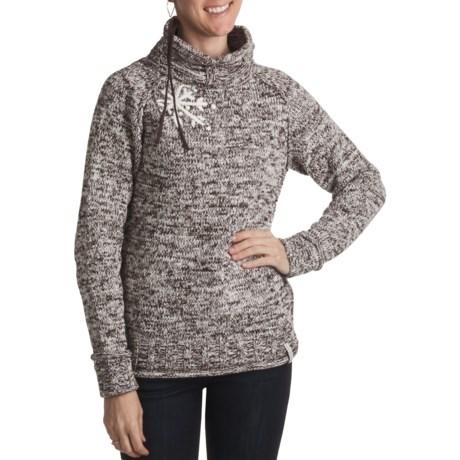 Obermeyer Fireside Sweater - Mock Neck (For Women) in Coffee