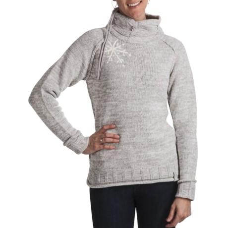 Obermeyer Fireside Sweater - Mock Neck (For Women) in Platinum