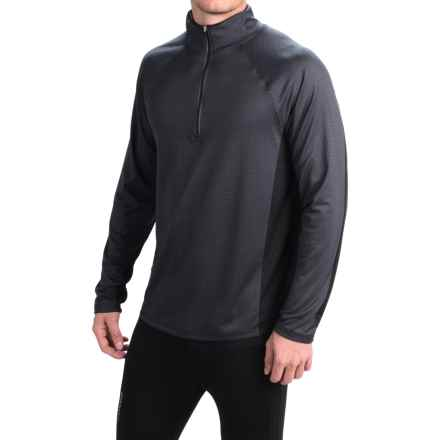 Obermeyer Flex Base Layer Top - Zip Neck, Long Sleeve (For Men) in Black - Closeouts
