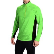 Obermeyer Flex Base Layer Top - Zip Neck, Long Sleeve (For Men) in Glowstick - Closeouts