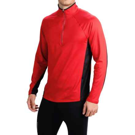 Obermeyer Flex Base Layer Top - Zip Neck, Long Sleeve (For Men) in True Red - Closeouts