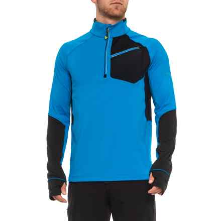 Obermeyer Flight Sport Fleece Shirt - Zip Neck, Long Sleeve (For Men) in Stellar Blue - Closeouts