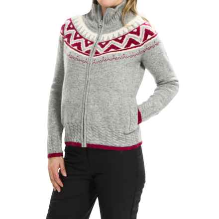 Obermeyer Frances Cardigan Sweater - Full Zip, Wool and Angora Blend (For Women) in Heather Grey - Closeouts