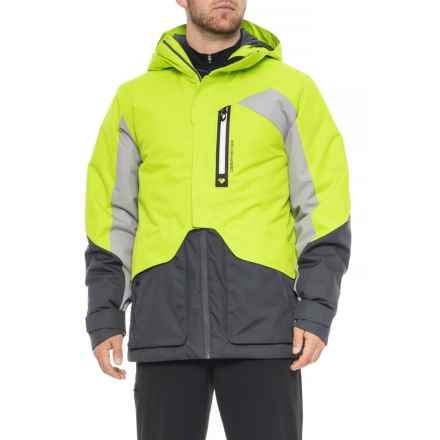 Obermeyer Freeform Ski Jacket - Waterproof, Insulated (For Men) in Green Flash - Closeouts