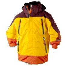 Obermeyer Freeride Jacket - Insulated (For Little Boys) in Mustard - Closeouts