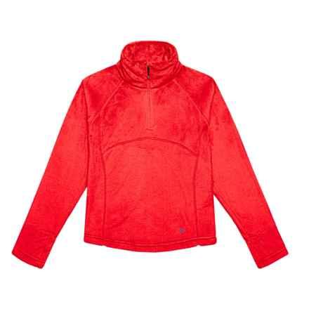 Obermeyer Furry Fleece Shirt - Zip Neck, Long Sleeve (For Big Girls) in Popstar Pink - Closeouts