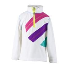 Obermeyer Gem Fleece Pullover Jacket - Zip Neck, Long Sleeve in White - Closeouts