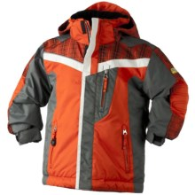Obermeyer Giant Slalom Jacket - Insulated (For Little Boys) in Flame - Closeouts