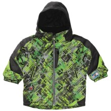 Obermeyer Giant Slalom Jacket - Insulated (For Little Boys) in Gocart Schematic Prt - Closeouts
