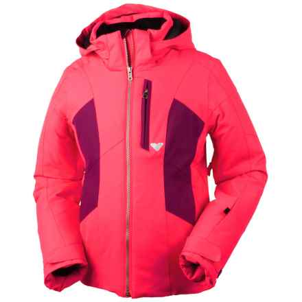 Obermeyer Gracey Ski Jacket - Waterproof, Insulated (For Little and Big Girls) in Day Glow Pink - Closeouts