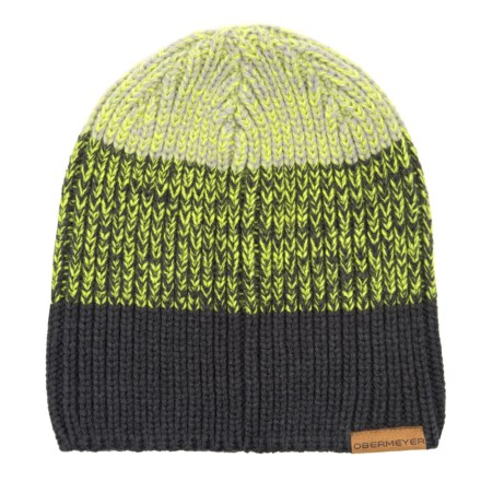 5452a707d59 Obermeyer Hat Trick Beanie (For Men) in Green Flash - Closeouts