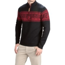 Obermeyer Hemsedal Sweater - Merino Wool, Zip Neck (For Men) in Black/Red - Closeouts