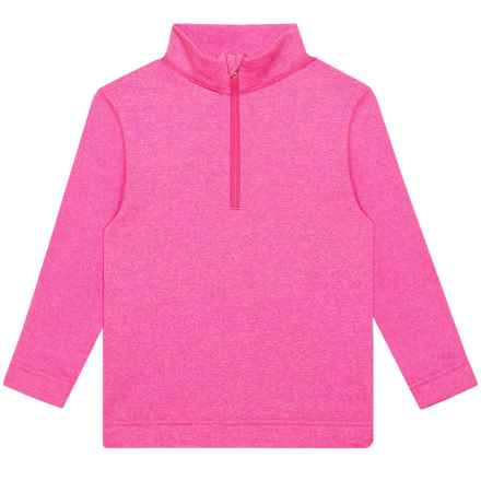 Obermeyer Hot Pink Thermal Shirt - Zip Neck, Long Sleeve (For Girls) in Hot Pink - Closeouts