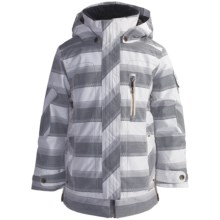 Obermeyer Iconic Jacket - Insulated (For Girls) in 14 Quarry Stripe Jacqrd - Closeouts