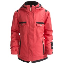 Obermeyer Iconic Jacket - Insulated (For Girls) in Coral