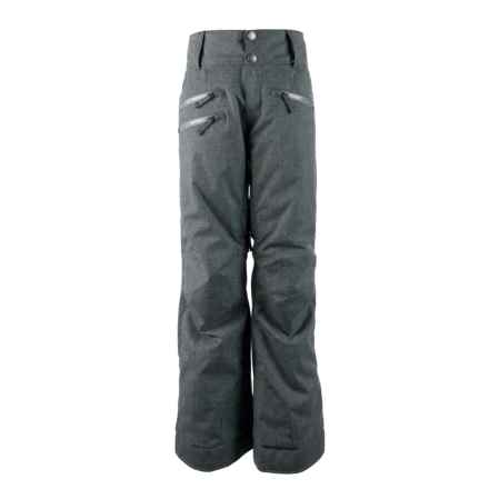 Obermeyer Jessi Ski Pants - Waterproof, Insulated (For Big Girls) in Light Heather Grey - Closeouts