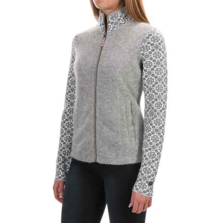 Obermeyer June Cardigan Sweater - Full Zip, Angora, Merino Wool (For Women) in Heather Grey - Closeouts