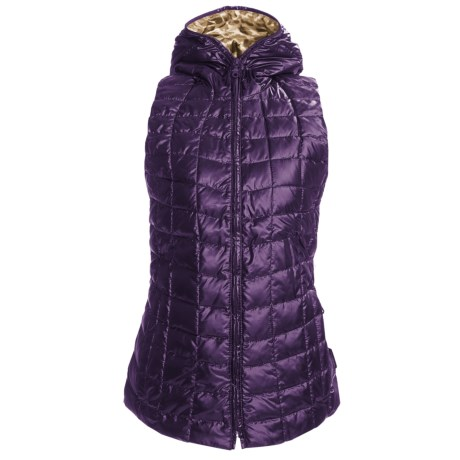 Obermeyer Kassi Down Vest - 550 Fill Power, Hooded (For Women) in Mulberry