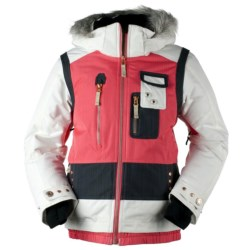 Obermeyer Katniss Jacket - Insulated (For Girls) in Coral