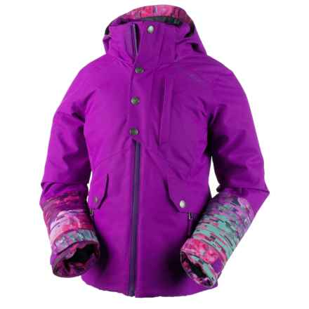 Obermeyer Kenzie Ski Jacket - Waterproof, Insulated (For Big Girls) in Violet Vibe - Closeouts