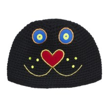 Obermeyer Kitty Knit Beanie Hat (For Little Kids) in Black - Closeouts