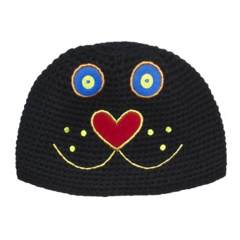 Obermeyer Kitty Knit Beanie Hat (For Little Kids) in Black